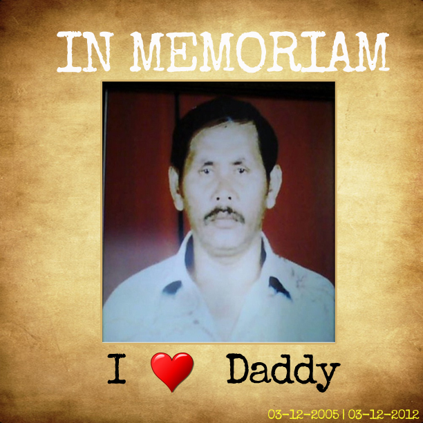 In Memoriam my daddy