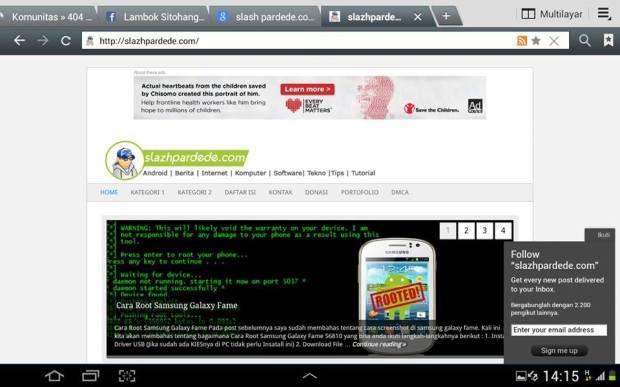 Screenshot di Samsung Galaxy Note 10.1