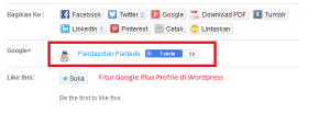 Google Plus Profile di WordPress
