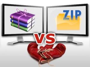 Pilih Mana RAR atau ZIP