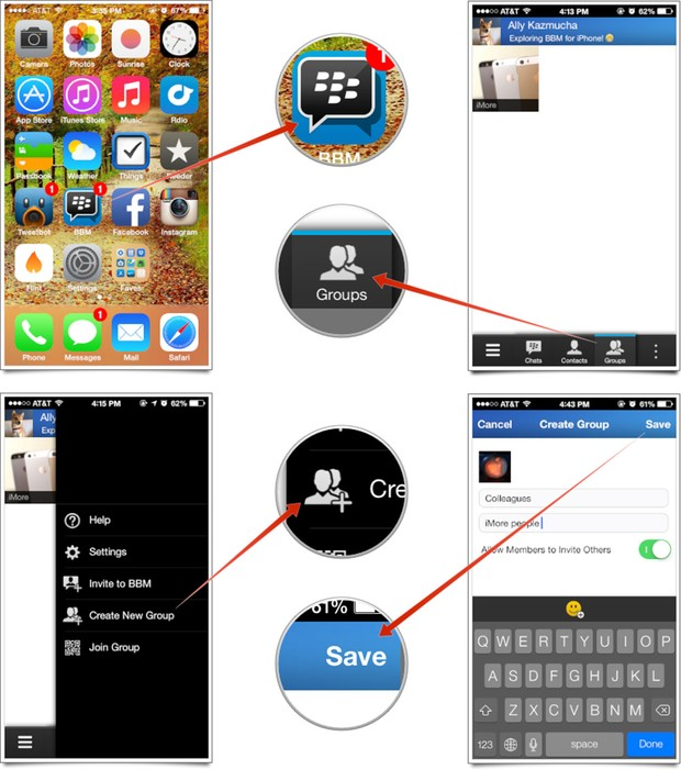 Tips Membuat BBM Group di Android dan iPhone