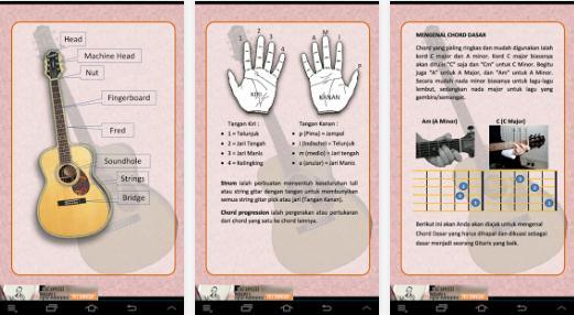 Aplikasi Untuk Belajar Kunci Dasar Gitar di Android