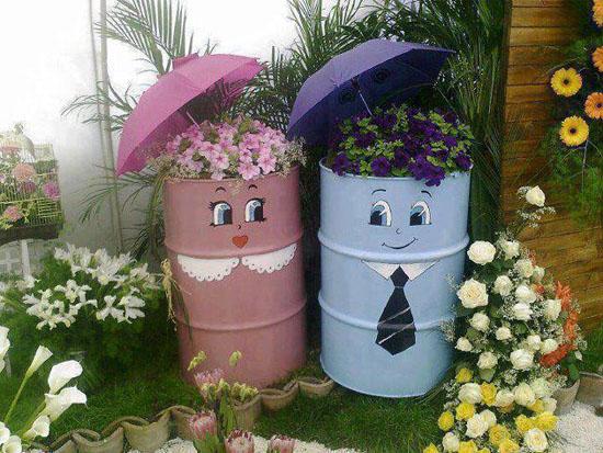 pot bunga unik: Pot bunga unik dari bahan bekas slazhpardede net