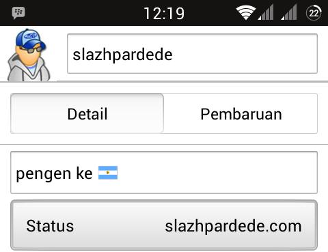 Cara Buat Icon Bendera di BBM Android