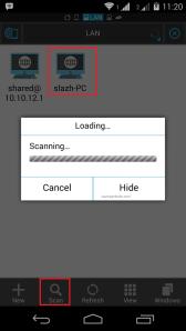 cara akses file komputer dari android