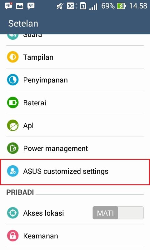 Screenshot Di Asus Zenfone
